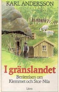 """Boken """"I gränslandet"""" som den såg ut när den gavs ut 1986, med 140 sidor och endast två illustrationer."""