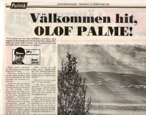 Palme - välkommen till länet