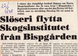 Ledare Norra Skogsinstitutet 1978